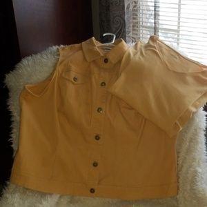 CJ Banks Plus Size Vest with Matching V Neck.